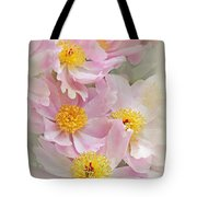 Cascading Pink Peony Flowers Tote Bag