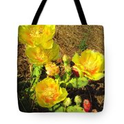 Cascading Prickly Pear Blossoms Tote Bag