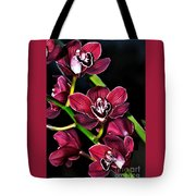 Cascading Red Orchids Tote Bag