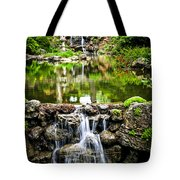 Cascading Waterfall And Pond Tote Bag by Elena Elisseeva