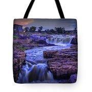 Cascading Waterfalls At Sunset Tote Bag