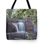 Cascading Waters At The Roosevelt Memorial Tote Bag