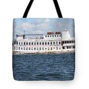 Casino Boat Coming Into Port Tote Bag