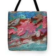 Caspian Sea Abstract Painting Tote Bag by Julia Apostolova