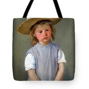 Cassatt's Child In A Straw Hat Tote Bag