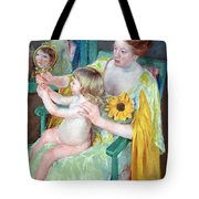 Cassatt's Mother And Child Tote Bag