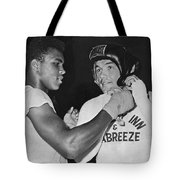 Cassius Clay And Johansson Tote Bag