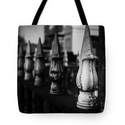 Cast Iron Spearheads Noir Tote Bag