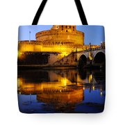 Castel Sant'angelo And The Tiber River Tote Bag