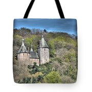 Castell Coch Cardiff Painterly Tote Bag