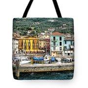 Castelleto Harbor.italy Tote Bag