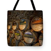 Castello Di Amorosa Of California Wine Barrels Tote Bag
