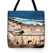 Castillo De San Cristobal San Juan Puerto Rico Tote Bag