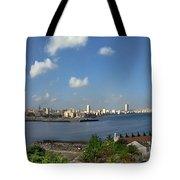 Castillo El Morro Havana Cuba Skyline Tote Bag