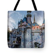 Castle And Clouds Tote Bag