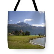Castle And Mountain Tote Bag