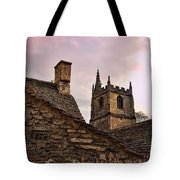 Sunset At Castle Comb Church - Wilshire England Tote Bag