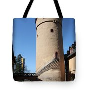 Castle Courtyard Tote Bag