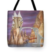 Castle Dragonfly Tote Bag
