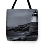 Castle Hill Lighthouse Bw Tote Bag