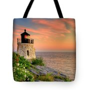 Castle Hill Lighthouse-rhode Island Tote Bag