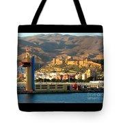 Castle In Almeria Spain Tote Bag