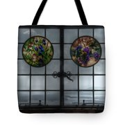 Castle In The Clouds Stained Glass To Winnipesaukee - Greeting Card Tote Bag