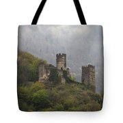 Castle In The Mountains. Tote Bag