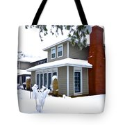 Castle In The Snow Tote Bag