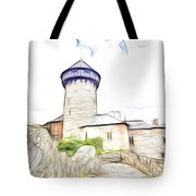 castle of the holy order - Sovinec castle Tote Bag