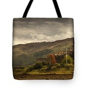 Castle On A Hill Kyle Of Lochalsh Tote Bag