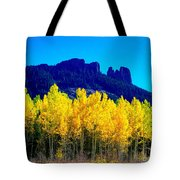 Autumn Castle Rock Aspens Tote Bag