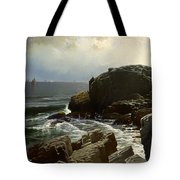 Castle Rock At Marblehead Tote Bag