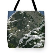 104619-castle Rock In Winter Dress Tote Bag