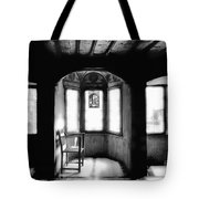 Castle Room With Chair Bw Tote Bag