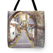 Castle Street Conwy North Wales Tote Bag
