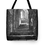 Castle Subterranean Staircase Tote Bag