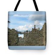 Castle Wall Walk Tote Bag