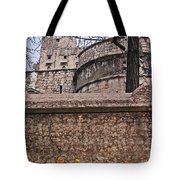 Castle With Poppies Tote Bag