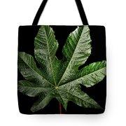 Castor Bean Leaf Tote Bag