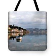 Kastoria Lake In Greece Tote Bag