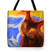 Cat Abstract Art Tote Bag by Pixel Chimp