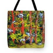 Cat And Fence Tote Bag