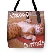 Cat Birthday Card Tote Bag
