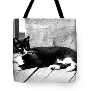 Cat Black And White Tote Bag