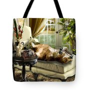Funny Pet Talking On The Phone  Tote Bag
