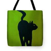 Cat Dance In Green Tote Bag