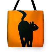 Cat Dance In Orange Tote Bag