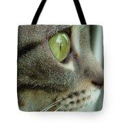 Cat Face Profile Tote Bag