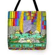 Cat Family - In The City Tote Bag